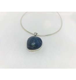 Cabochon Necklace Pendant - Leland Blue 1''