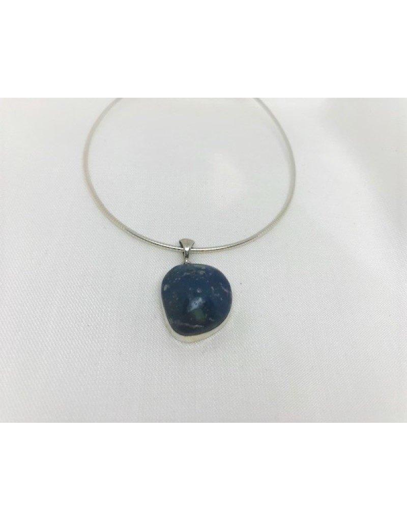 Cabochon Necklace Pendant - Leland Blue 1''