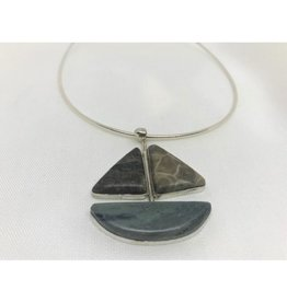 Boat Necklace Pendant - Petoskey & Leland Blue