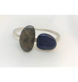 Cabochon Bracelet - Leland Blue & Petoskey