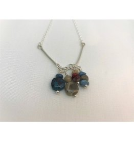 Beach Stone Charm Necklace