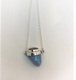 Dual Drop Necklace - Leland Blue & Petoskey Stone