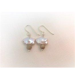 Pearl Fish Earrings - Petoskey Stone