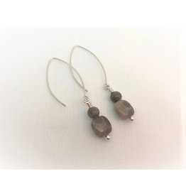 Drop Earrings - Petoskey Stone Duo