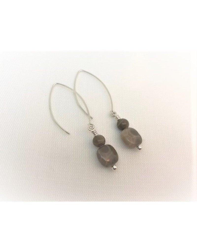 Drop Earrings - Petoskey Stone Duo