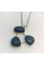 Cabochon Necklace Pendant - Leland Blue Trio