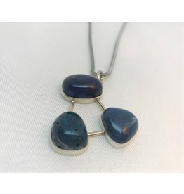 Cabochon Necklace Pendant - Leland Blue Trio