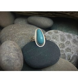 Bezel Set Ring - Leland Blue Oval