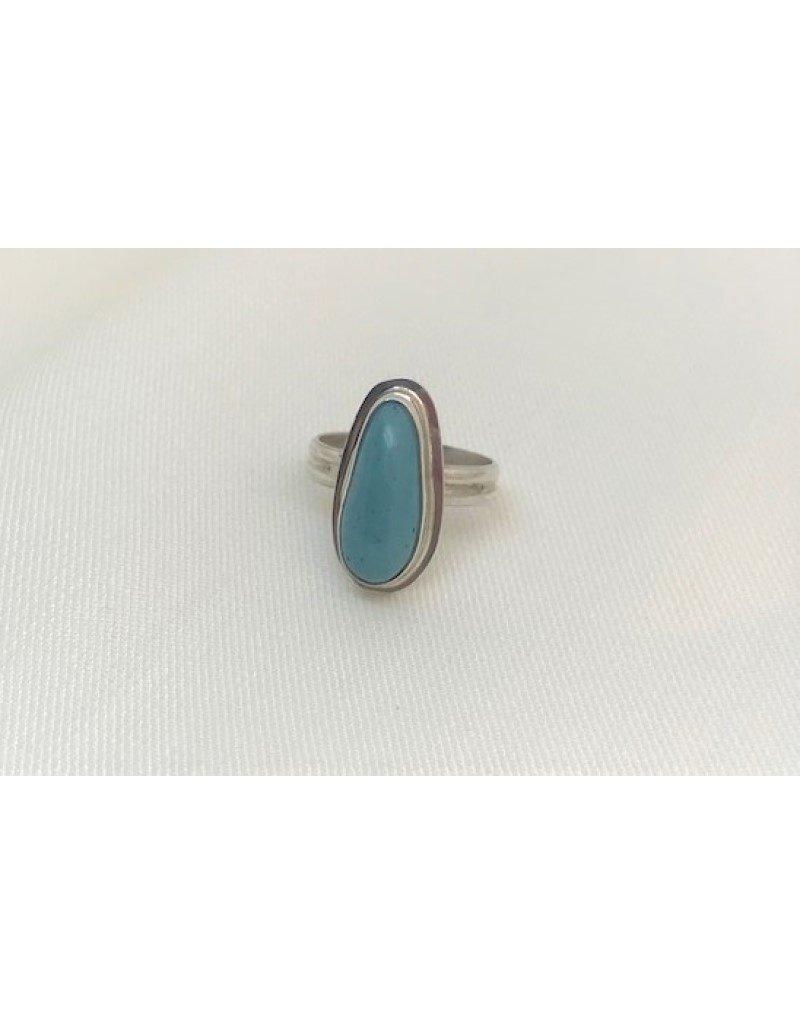 Bezel Set Ring - Leland Blue Oval