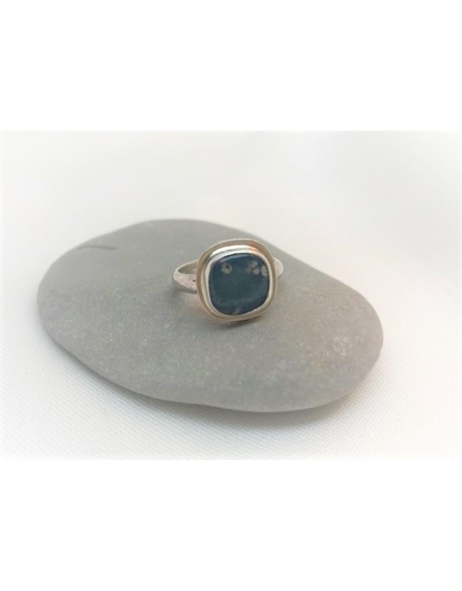 Bezel Set Ring - Leland Blue Square