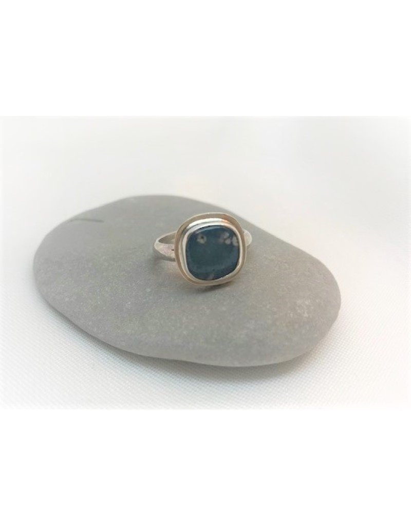 Bezel Set Ring - Leland Blue Square