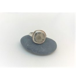 Bezel Set Ring - Petoskey Stone Square