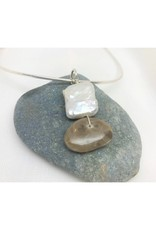 Necklace Pendant - Petoskey & Pearl Square