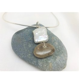 Necklace Pendant - Petoskey & Pearl Square