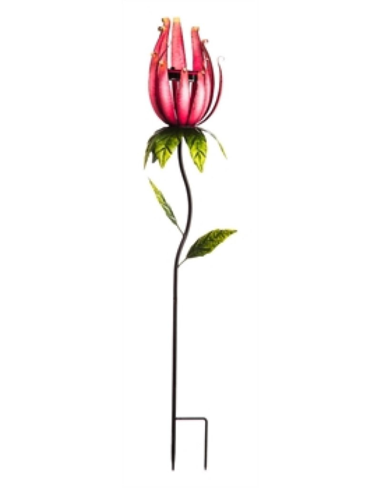 Whimsical Solar Flower Stake - Pink