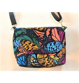 Bear Den Handmade Crossbody Cub Satchel - Colorful Butterflies