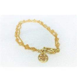 Charm Bracelet - Opal/Sunflower
