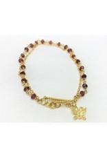 Charm Bracelet - Garnet/Butterfly