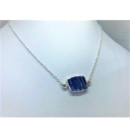 Gemstone Slice Necklace - Lapis