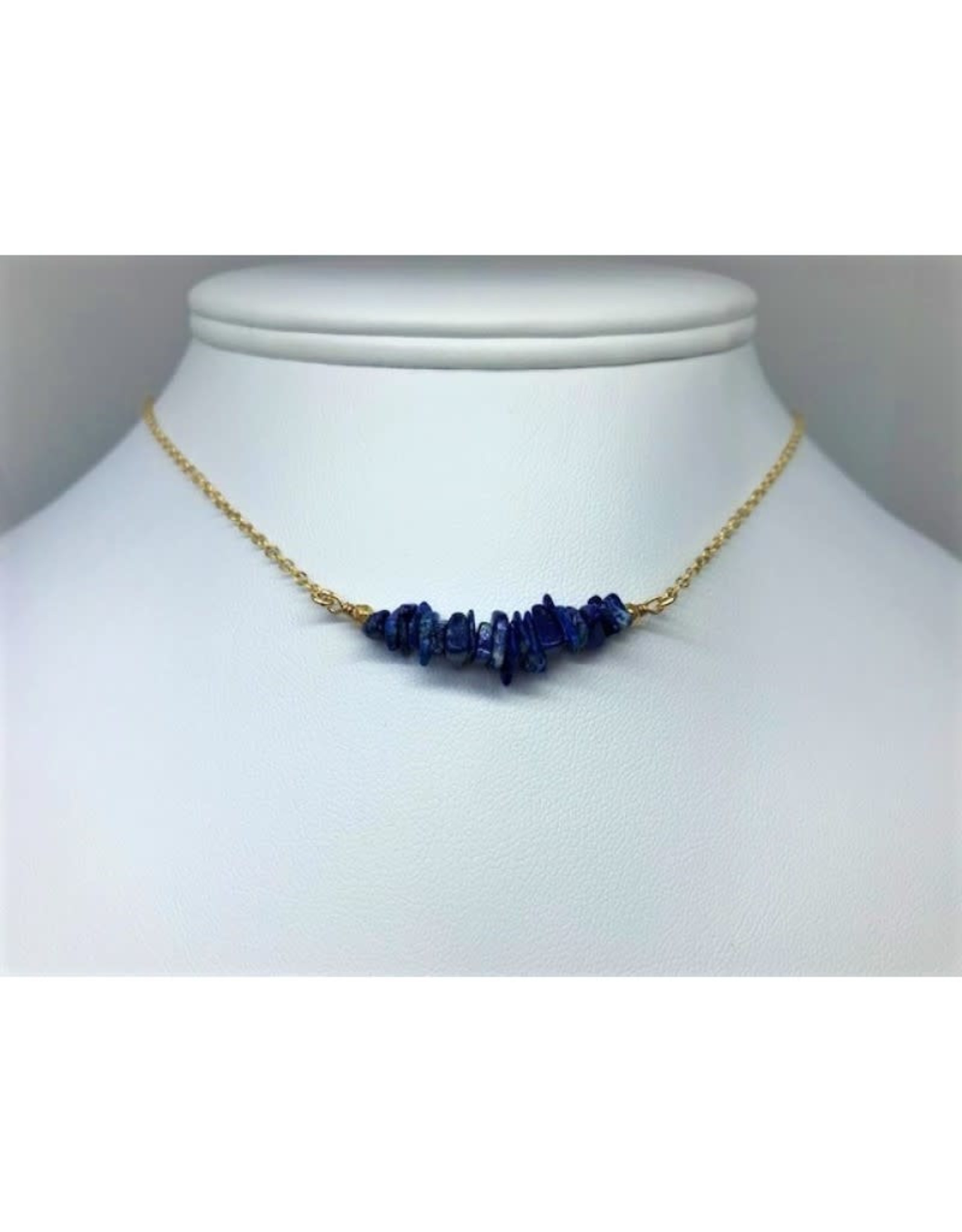 Gemstone Bar Necklace - Lapis