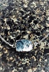 Gemstone Slice Necklace - Dendrite Opal