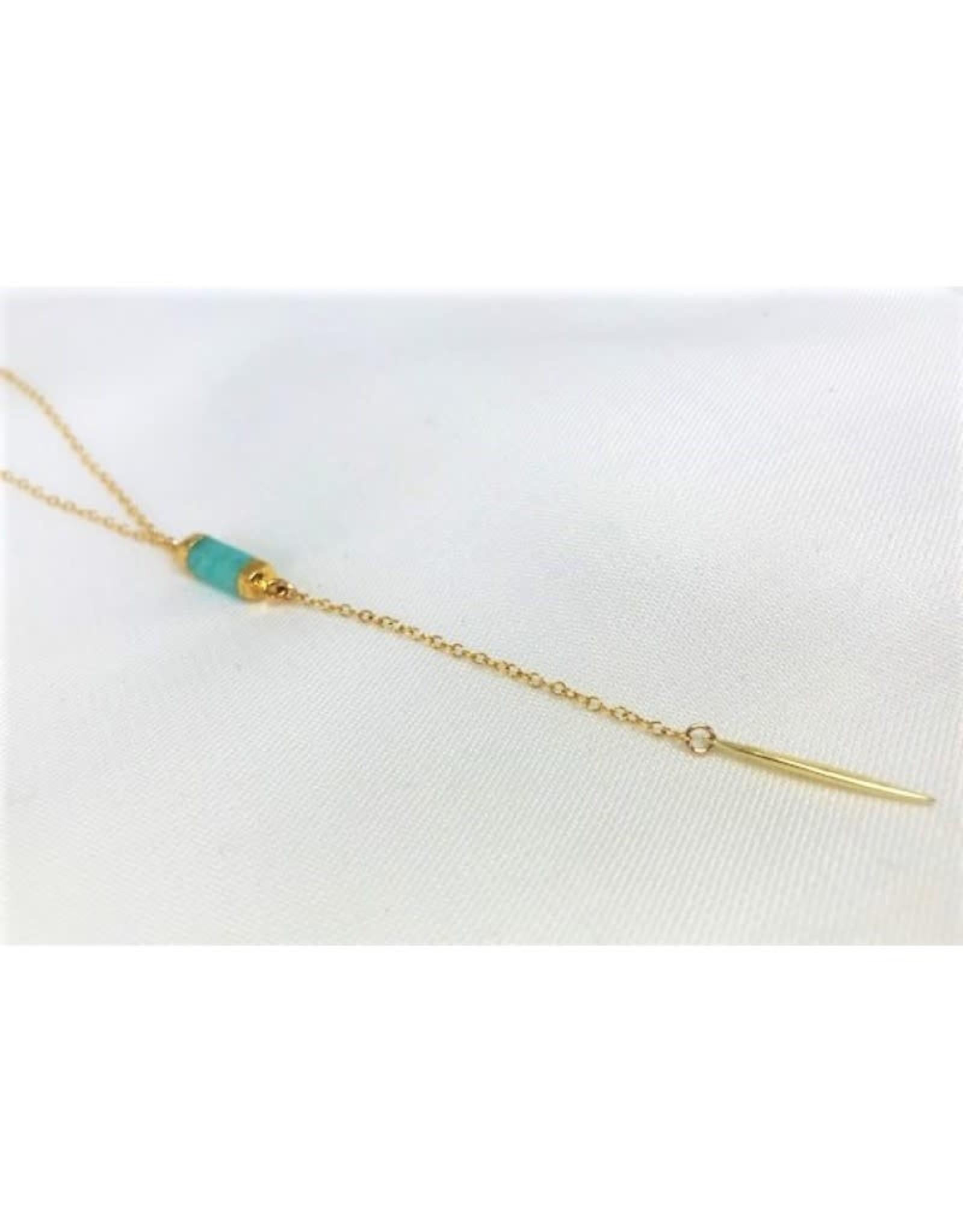 Lariat Necklace - Amazonite