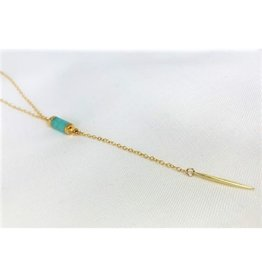 Lariat Necklace - Amazonite