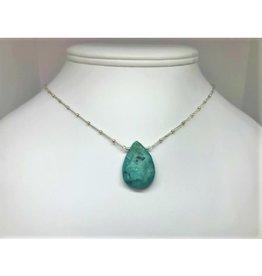 Raw Gemstone Necklace - Turquoise