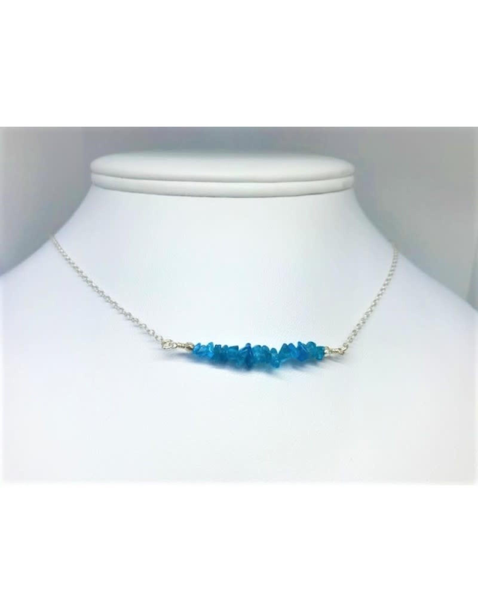 Gemstone Bar Necklace - Apatite