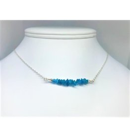 Gemstone Bar Necklace - Apatite