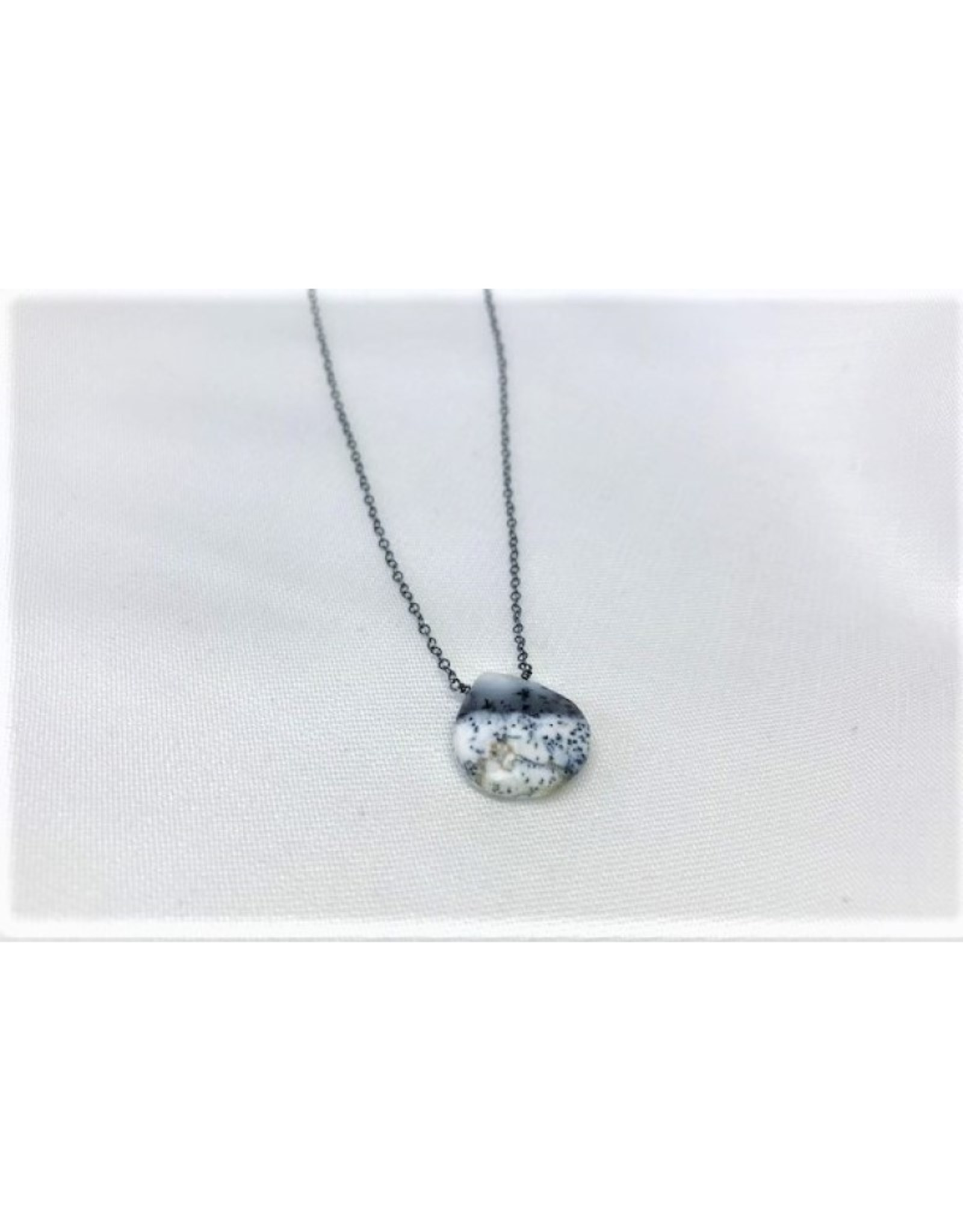 Raw Gemstone Necklace - Dendritic Opal