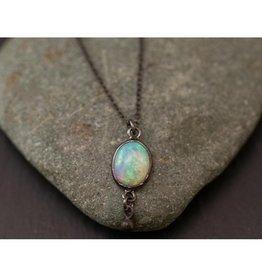 Bezel Necklace - Opal