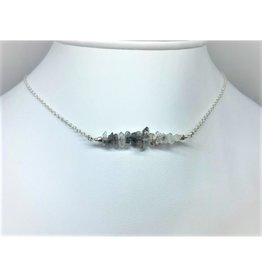 Gemstone Bar Necklace - Herkimer Diamond