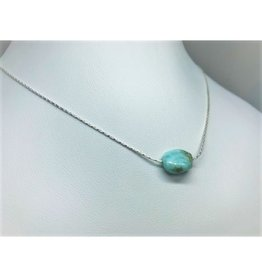 Raw Gemstone Necklace - Larimar