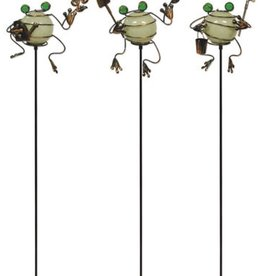 Glow in the Dark Froggy Stakes - Set of 3