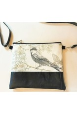 Bear Den Handmade Bird & Butterflies Crossbody Bag