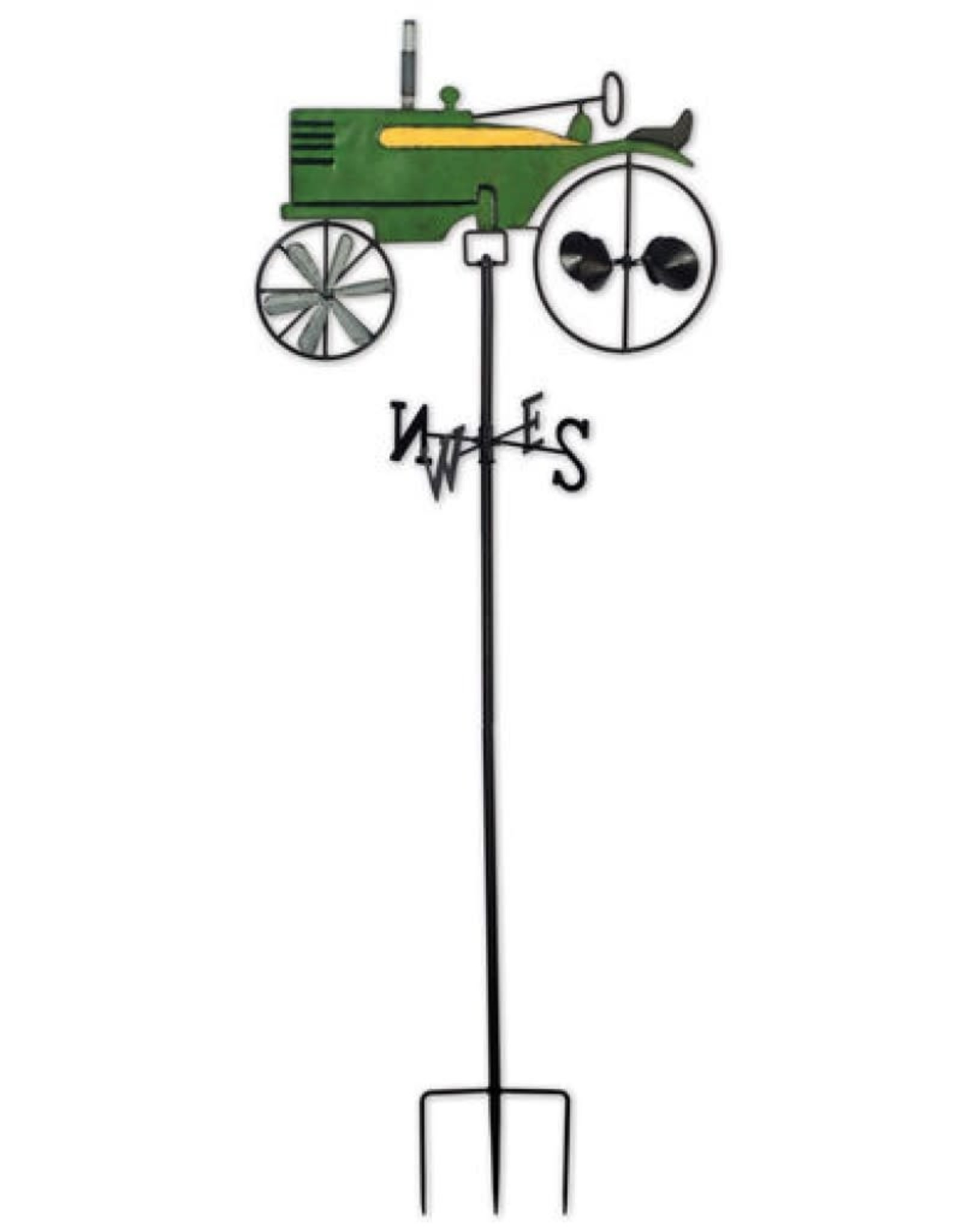 Weathervane Spinner Stake - Green Tractor