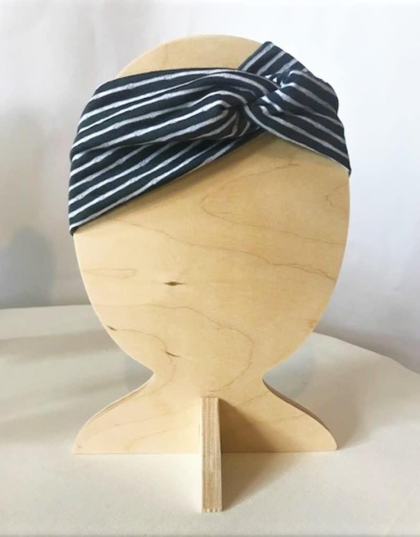 Bear Den Handmade Bear Den Bandeau - Gray Stripes