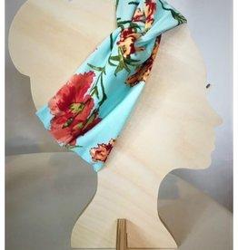 Bear Den Handmade Bear Den Bandeau - Blue & Coral Floral