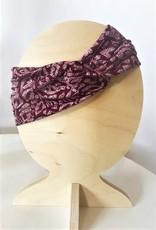 Bear Den Handmade Bear Den Headband - Maroon Leaf