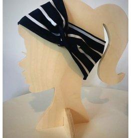 Bear Den Handmade Bear Den Headband- Navy Stripe