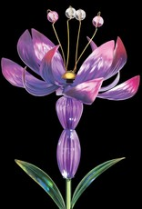 Solar Lotus Spinner Stake - Purple