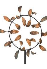 Kinetic Wind Spinner Stake - Leaf Vortex