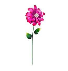 Colorful Glow in the Dark Metal Flower - Pink