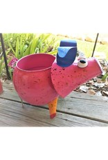 Colorful Metal Planter - Pig