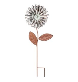 Glow in the Dark Galvanized Stake - Daisy