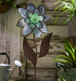 Glow in the Dark Galvanized Stake - Pretty Petals