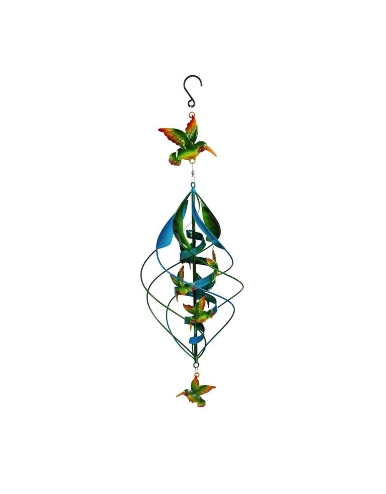 Hanging Wind Twirler - Hummingbird
