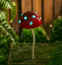 Glow in the Dark Mushroom Stake - Red