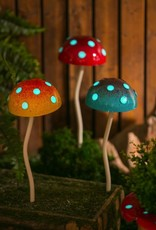 Glow in the Dark Mushroom Stake - Red